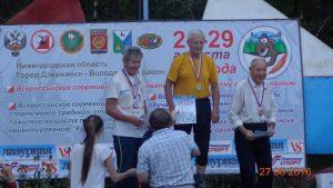Николай Орлов 1 на Пъедестале - слева Кубка России