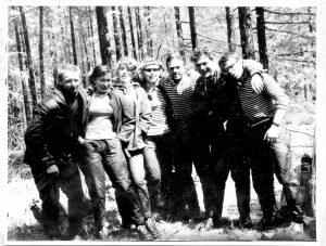 Группа Вахламова_Виктор крайний слева_затем его жена Лина