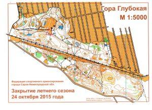 Карта соревнований с местом старта 1200